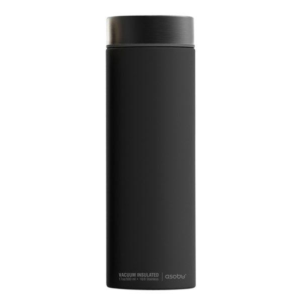Asobu Le Baton Insulated Travel Bottle 17oz Smoke